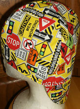 Construction Signs Handmade 100% cotton, Welding, Biker, pipefitter,4 panel hat
