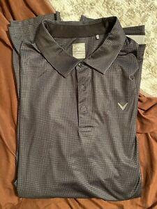 Callaway Golf Mens Polo Sz 3XL Opti-Dri Black/Grey Short Sleeve. Worn 1 time