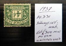 GB 1937 Postage Due 4d As Described BQ697