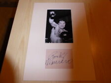 Rocky Marciano Boxing mounted photograph & autograph card