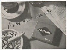 Pubblicità 1935 MACEDONIA EXTRA SIGARETTE SMOKE advertising werbung publicitè