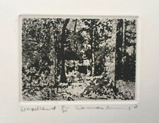 "NORMAN ACKROYD RA 1938 ""Woodland"" Limited Ed ETCHING ed 11/25"