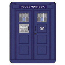 BLUE POLICE BOX LARGE PC Computer Mousemat Mouse Mat Pad Gift Call Box London
