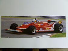 1980 Ferrari 312 T5 Jody Scheckter Formula 1 Race Car Print Picture Poster RARE