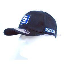 Sparco Official Racing S Icon Black FlexFit Baseball Cap Hat Size S/M SP11N