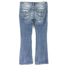 Silver Jeans Women's PIONEER Low Rise Boot Cut Distressed Size 28 X 31