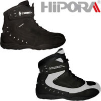 Richa Slick Waterproof Short Paddock Motorcycle Boots Black or White - All Sizes