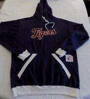 Detroit Tigers Pullover Hoodie XL Tall Navy Fully Embroidered Cursive Logo MLB