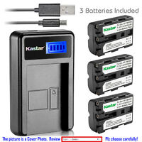 Kastar Battery LCD USB Charger for Sony NP-FM500H & Viltrox DC-50 Camera