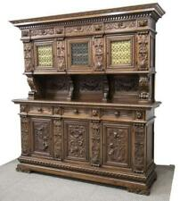 Sideboard, Italian, Renaissance Revival, Walnut, Early 1900s, Stunning Piece!