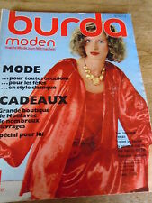 MAGAZINE BURDA VINTAGE ROBES LONGUES DE SOIREE LINGERIE ETC NOVEMBRE 1978