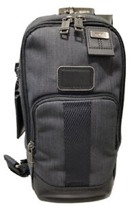NWT Tumi FIFE Slim Sling Bag Charcoal