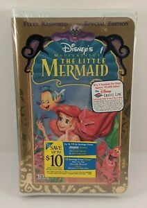 New Sealed Walt Disney Masterpiece The Little Mermaid Special Edition VHS Tape