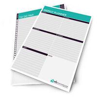 2X Monster Papelería - A4 Semanal Plan Agenda / Escritorio Libreta - Hecho En GB