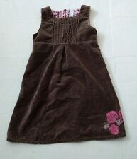 Nice Girls Carters brown embroidered Velvet Sleeveless Dress Size 6