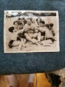 ORIGINAL 1939 BOXING WIRE  PHOTO TWO TON TONY GALENTO BEFORE JOE LOUIS FIGHT