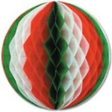 """12"""" Tissue Paper Christmas Tri-color Honeycomb Party Ball - 1 Piece"""