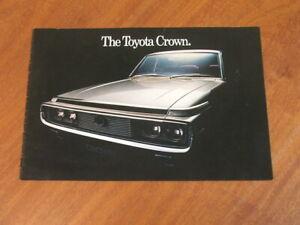 c1972 Toyota Crown original Australian market larger style 8 page brochure