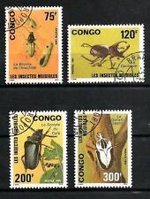 Insectes Congo (7) série complète de 4 timbres oblitérés
