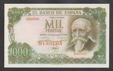 SPAIN 1000 Pesetas 1971  UNC  *SPECIMEN*  REPRODUCTION