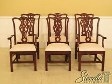 L45152EC: Set Of 6 KNOB CREEK Chippendale Cherry Dining Room Chairs