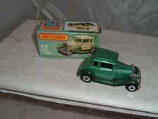 MATCHBOX SUPERFAST #73 MODEL A FORD SEDAN WITH ITS BOX PLEASE SEE THE PHOTOS
