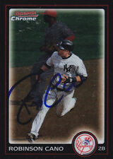 ROBINSON CANO NEW YORK YANKEES SIGNED BOWMAN CHRM BASEBALL CARD SEATTLE MARINERS