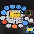 77pcs Plastic Gear Gearbox 130DC Motor DIY Wheel Drive Car Robot Belt Pulley