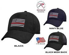 2e946ba6d2d9f Support Firefighter Thin Red Line Flag Cap Low Profile Hat Baseball Fire  Dept.