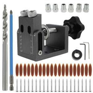 52PZ Pocket Hole Jig Kit Guida lavorazione Legno Localizzatore fori trapano