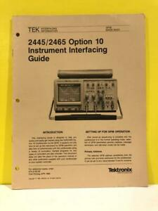 Tektronix 070-5150-00 2445/2465 Option 10 Instrument Interfacing Guide