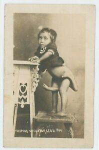 Human Deformity Freak Mutant Maxine Mina RPPC Photo Postcard Atlantic City