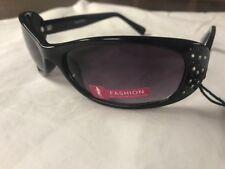 "NWT Foster Grant Womens Fashion Sunglasses ""G8-1165"" oval black rhinestones"