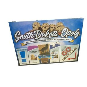 New South Dakota Opoly Game Black Hills Custer Crazy Horse Wall Rally Rushmore