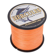 1000M 1094Yds 20LB Test Orange Hercules PE Braided Fishing Line 4 Strands Popper