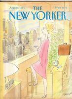 1989 New Yorker - April 10 - Kathy Freeman-Leonard Loves her luxury apt - Sempe