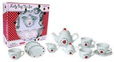 Children's Porcelain Tea Set for 4-Lady Bug in Box-Mini Size #LBTS