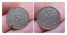 J 12   5 Pfennig KAISERREICH 1913 E in VZ  1502273