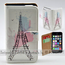 Wallet Phone Case Flip Cover ONLY for Apple iPhone 5 / 5S - Eiffel Tower Paris