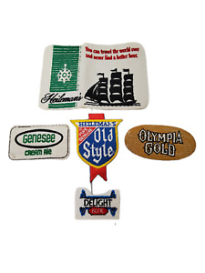Lot of 5 Vintage Misc Beer Breweriana Iron-on Patches.