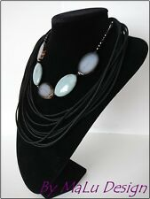 Fashion handmade necklace Agate gemstone jewelry gift idea