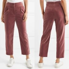 Brunello Cucinelli Women's Sz 6 Crushed Velvet Cropped Pleated Pink Pants NWOT