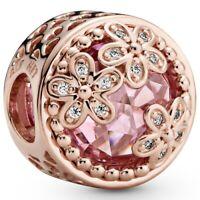 Funkelndes Rosafarbenes Gänseblümchen PANDORA ROSE Charm 782055C01