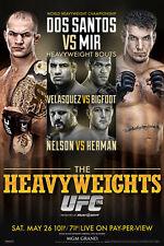 UFC 146 Junior dos Santos vs Frank Mir Sports Poster 12x18