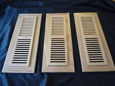 """3 Finished Solid Oak Floor Vents Registers 16.75"""" x 6.75"""" x .5"""" Covers & Frames"""