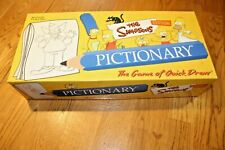 The Simpsons Edition PICTIONARY Family Board Game USAopoly Complete Game 2002