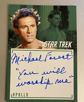 STAR TREK TOS CAPTAINS COLLECTION A7 MICHAEL FOREST INSCRIPTION AUTOGRAPH Card 2