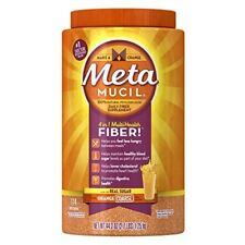 Metamucil Daily Fiber Supplement, Orange Coarse Sugar Psyllium Husk Fiber... New