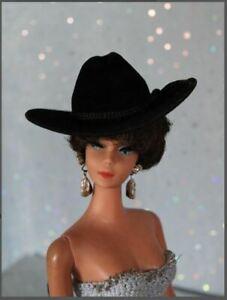 """Allfordoll Doll STYLE COWBOY HAT for 4"""" - 11.5 - 12"""" Puki Barbie Fashion Royal"""