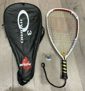 Wilson Ncode Nlite Racquetball Racquet White Silver & Red Very Good Condition